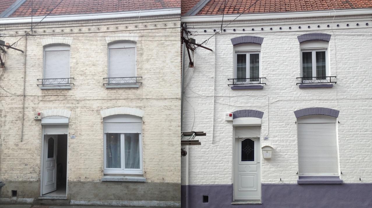 Prix pour refaire facade maison peinture facade maison for Prix m2 crepis facade